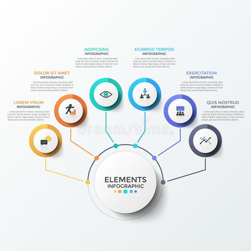 Molde infographic moderno ilustração do vetor