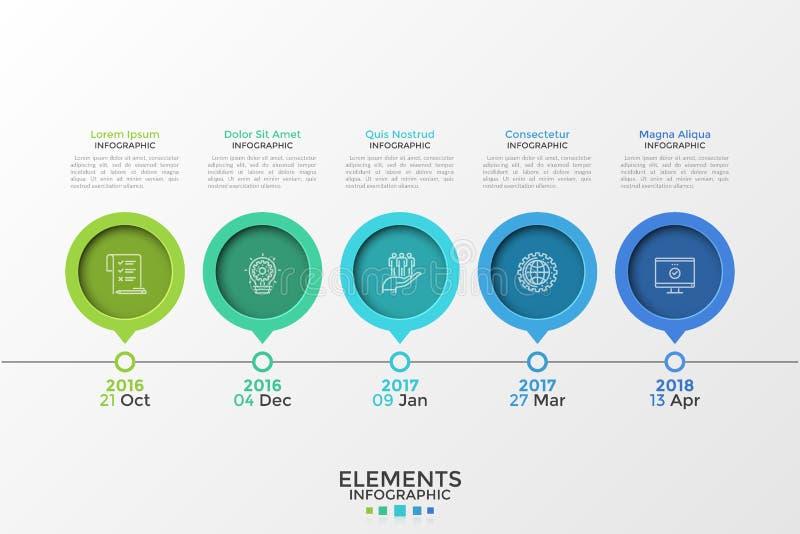 Molde infographic moderno fotos de stock royalty free