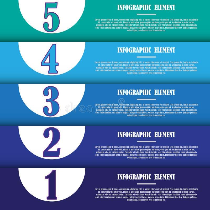 Molde infographic moderno para o projeto e os trabalhos criativos ilustração stock