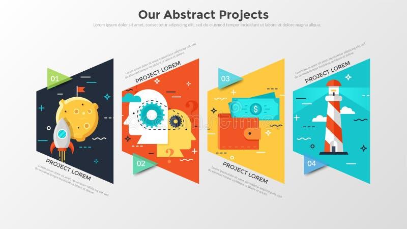 Molde infographic moderno ilustração royalty free