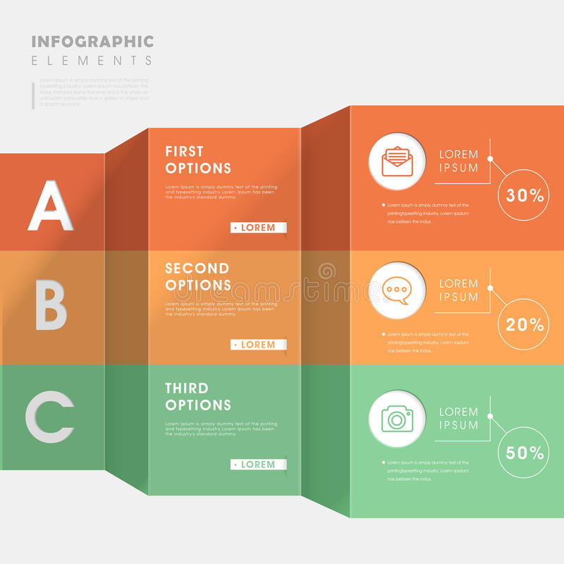 Molde infographic na moda ilustração stock