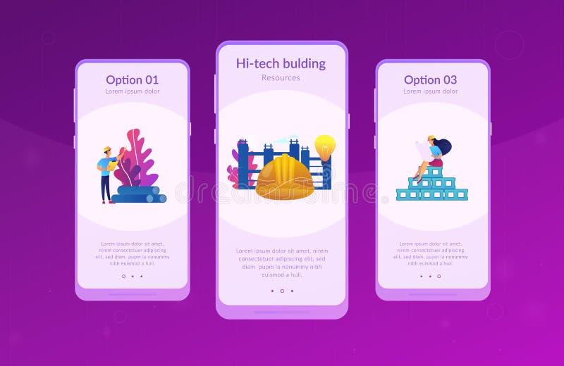 Molde inovativo da rela??o do app dos materiais de constru??o ilustração royalty free