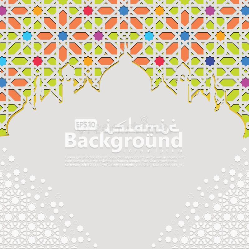 Molde islâmico do fundo para o kareem de ramadan, Ed Mubarak com ornamento islâmico ilustração do vetor