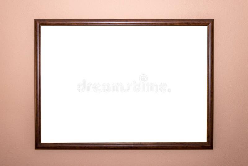 Molde isolado branco do trajeto de grampeamento do projeto mínimo da moldura para retrato da casa imagem de stock royalty free