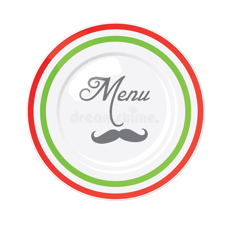 Molde italiano do projeto do menu do restaurante ilustração do vetor