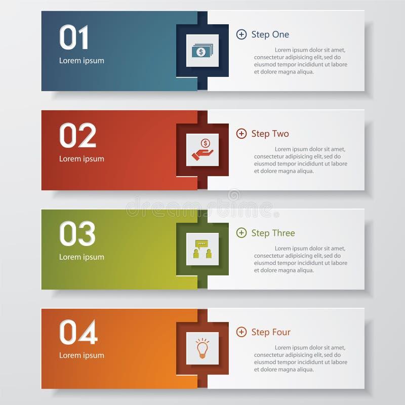 Molde limpo das bandeiras do número do projeto ilustração do vetor