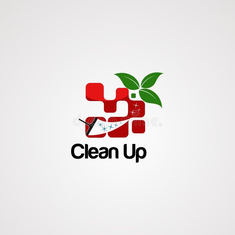 Molde limpo do vetor do logotipo da janela, ícone, elemento ilustração royalty free