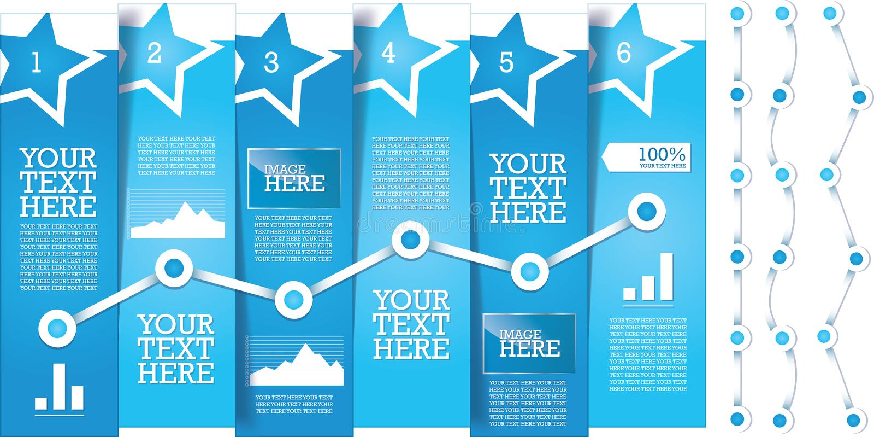 Molde limpo, moderno, editável, simples do projeto da bandeira do informação-gráfico ilustração royalty free