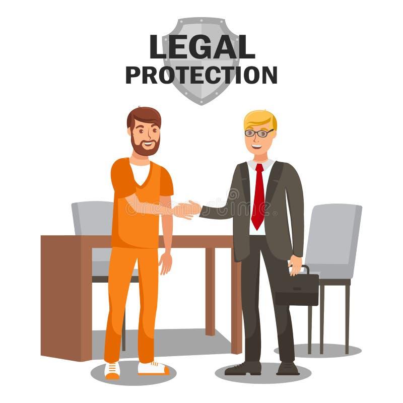 Molde liso da bandeira dos serviços da proteção legal ilustração do vetor