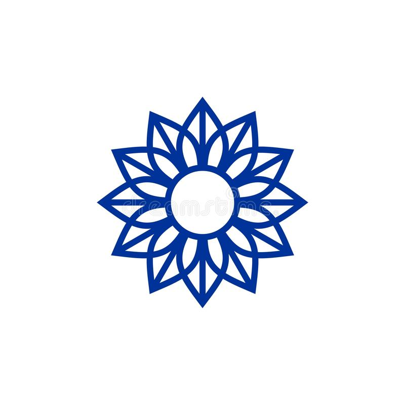 Molde luxuoso do logotipo do ornamento ilustração stock