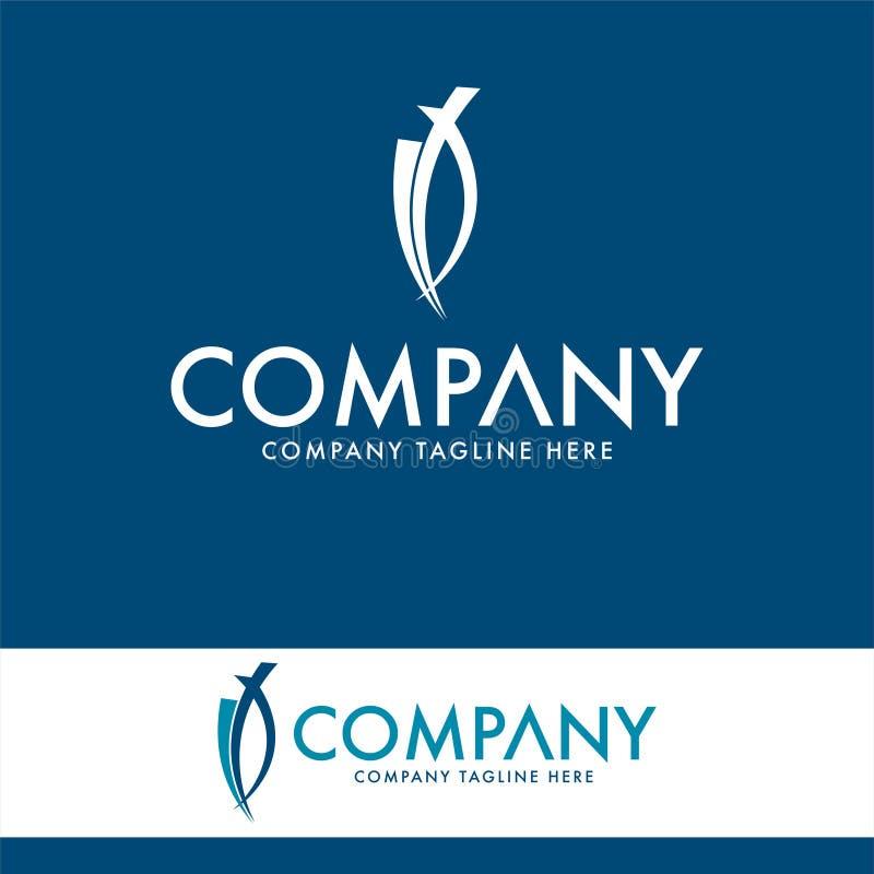 Molde luxuoso do projeto do logotipo Elementos do logotipo da empresa ilustração stock