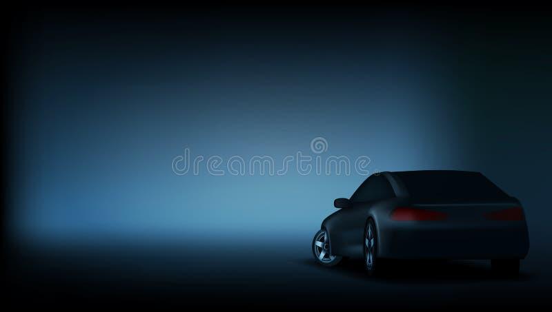 Molde luxuoso elegante realístico da bandeira do carro ilustração stock