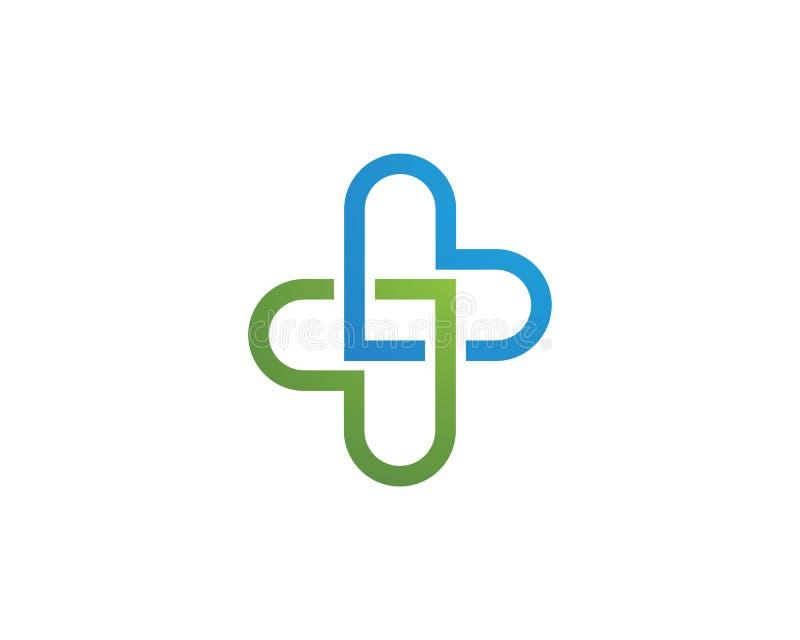 Molde médico do logotipo da saúde ilustração stock