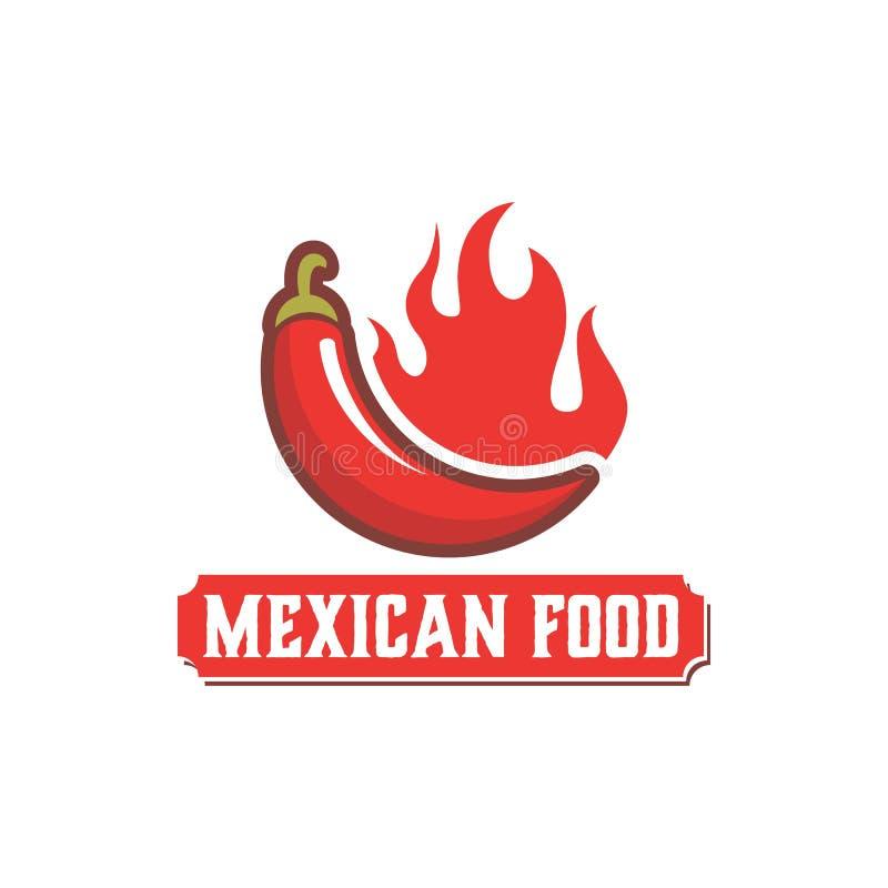 Molde mexicano do projeto do logotipo do alimento ilustração royalty free