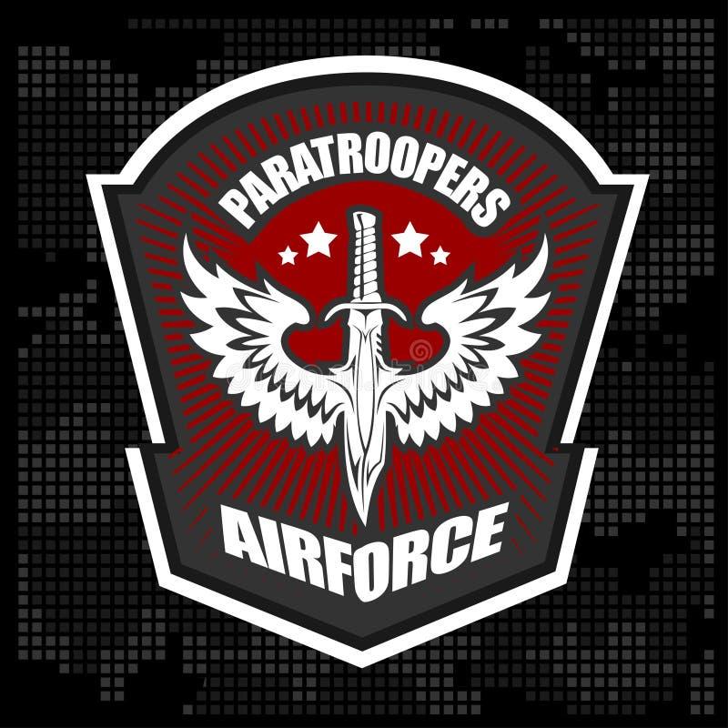 Molde militar do projeto do vetor do emblema da unidade especial ilustração do vetor