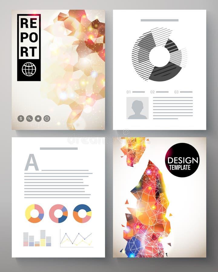 Molde moderno criativo para um relatório incorporado ilustração do vetor