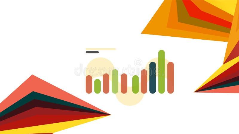 Molde moderno da apresentação do triângulo ilustração stock