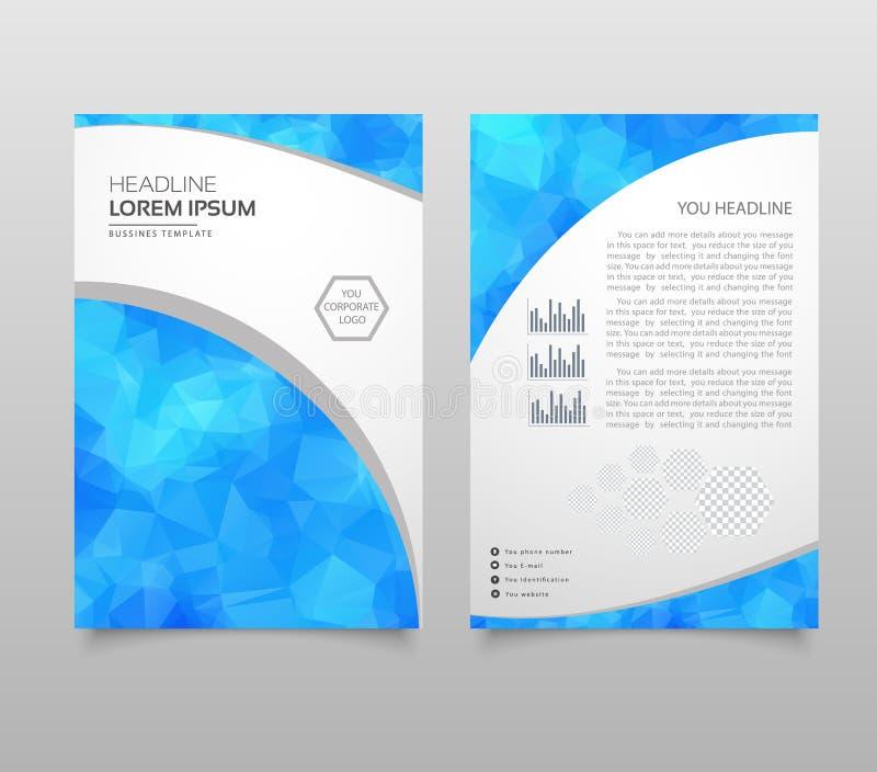Molde moderno da apresentação do triângulo Fundo do projeto de negócio, conceito do folheto ou do inseto ou bandeira geométrica d ilustração royalty free