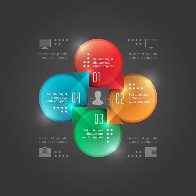 Molde moderno de Infographics do vetor. Diagrama dos círculos. Projeto da ilustração do conceito do vetor EPS10 ilustração royalty free