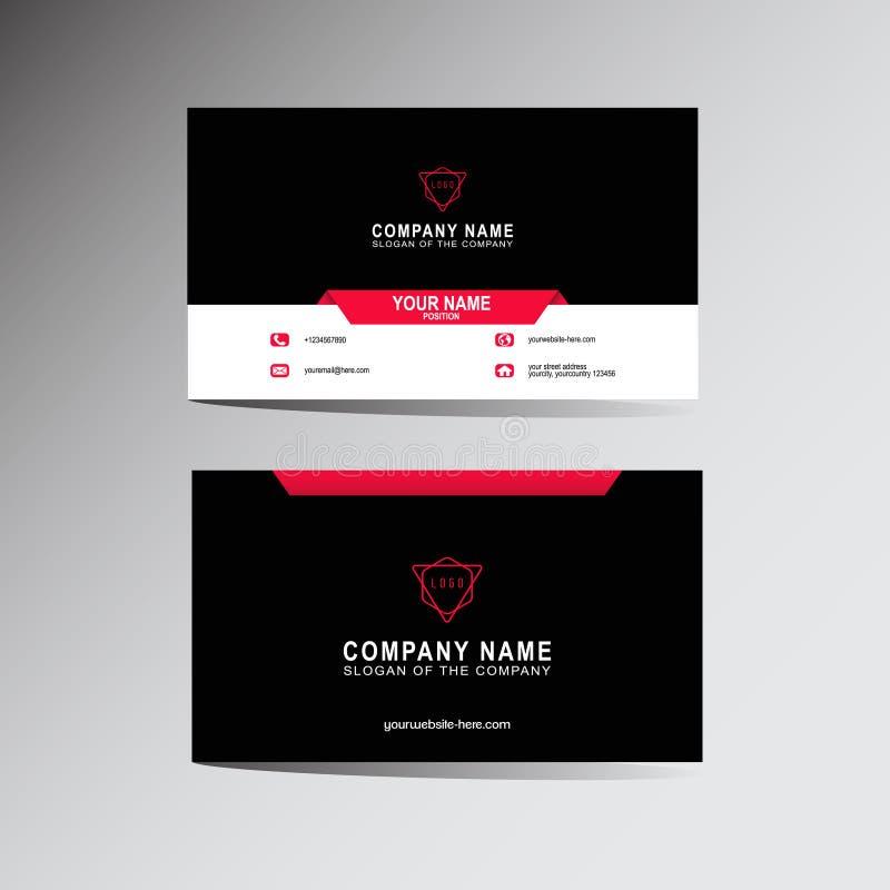 Molde moderno do cartão, fundo, vetor, ilustração, projeto abstrato para a empresa e uso individual ilustração do vetor