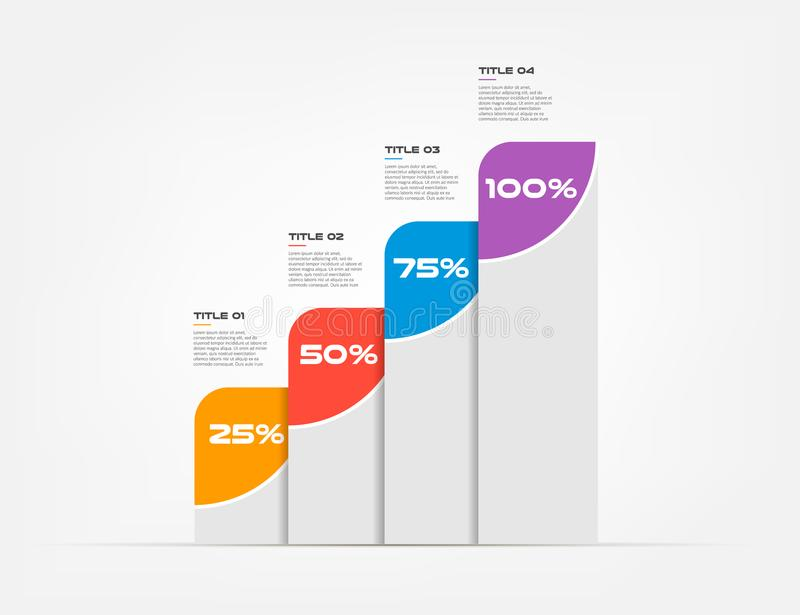 Molde moderno do elemento do infographics Ilustração do vetor Pode ser usado para a disposição dos trabalhos, diagrama, bandeira, ilustração royalty free
