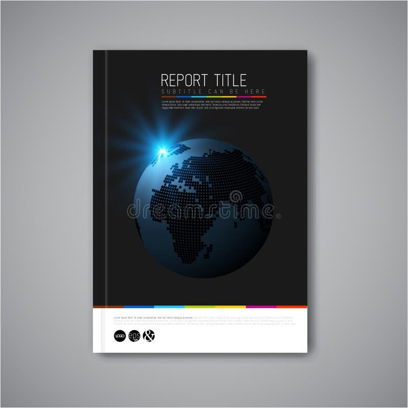 Molde moderno do folheto, do relatório ou do inseto do projeto do sumário do vetor ilustração royalty free