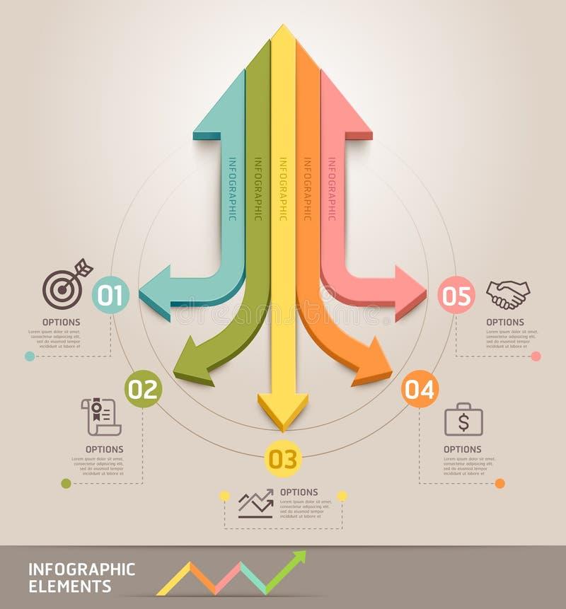 Molde moderno do infographics da seta ilustração do vetor
