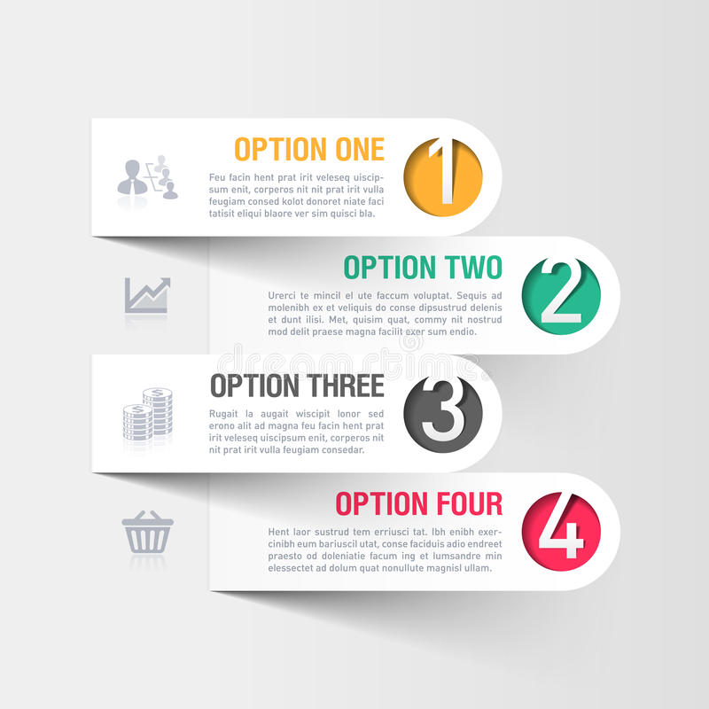 Molde moderno do infographics do negócio ilustração do vetor