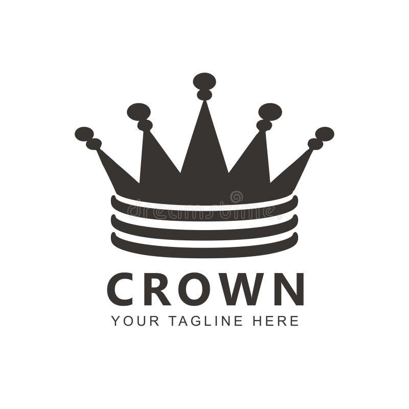 Molde moderno do logotipo elegante da coroa ilustração do vetor