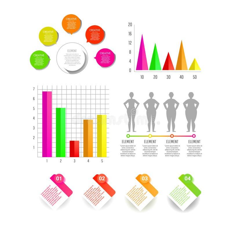 Molde moderno do negócio para a apresentação, o design web, as bandeiras e os cartazes ilustração stock