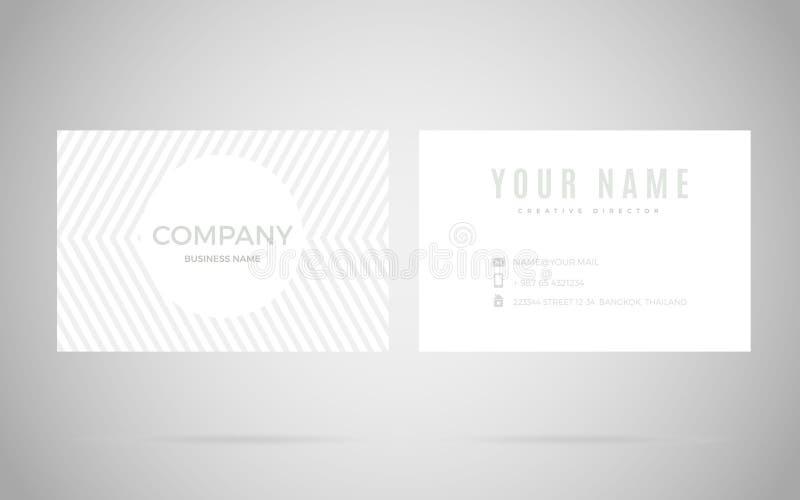 Molde moderno do projeto de cartão ilustração stock