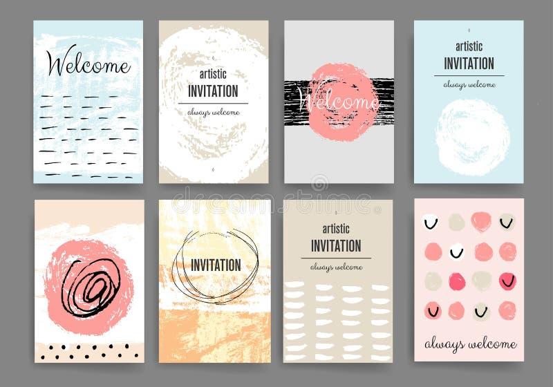 Molde moderno do projeto de cartões ilustração do vetor