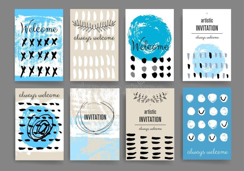 Molde moderno do projeto de cartões ilustração stock
