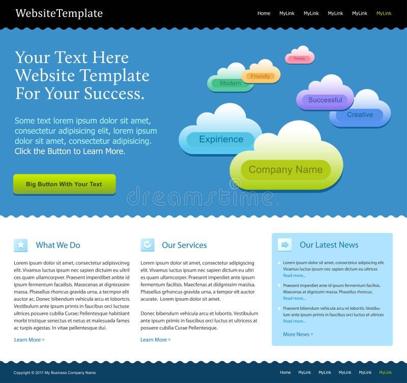 Molde moderno do projeto do Web site ilustração do vetor