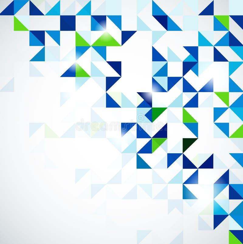 Molde moderno do projeto geométrico de verde azul ilustração stock