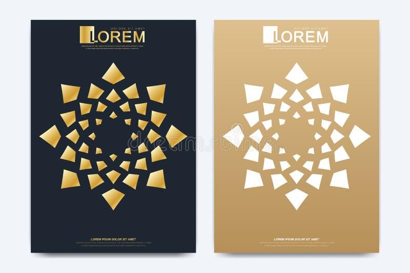 Molde moderno do vetor para o folheto, o folheto, o inseto, o anúncio, a tampa, o compartimento ou o informe anual Tamanho A4 Pro ilustração royalty free