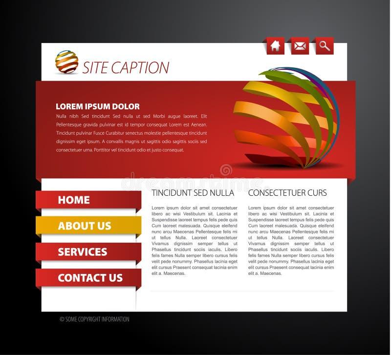 Molde moderno do Web page ilustração royalty free