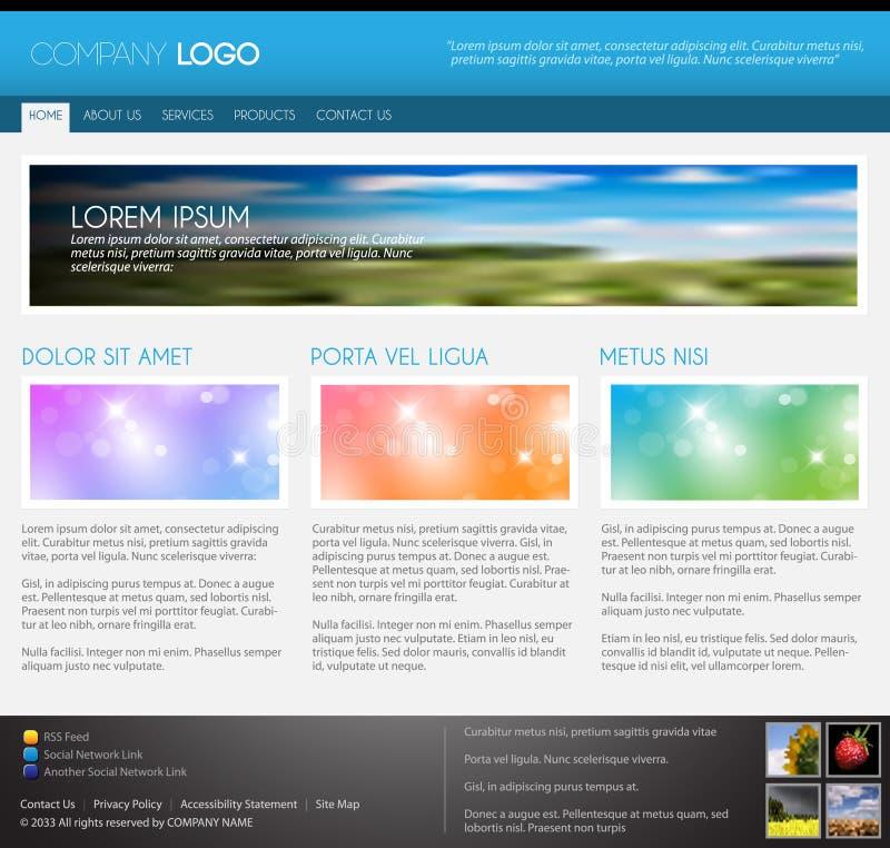Molde moderno do Web page do vetor ilustração stock