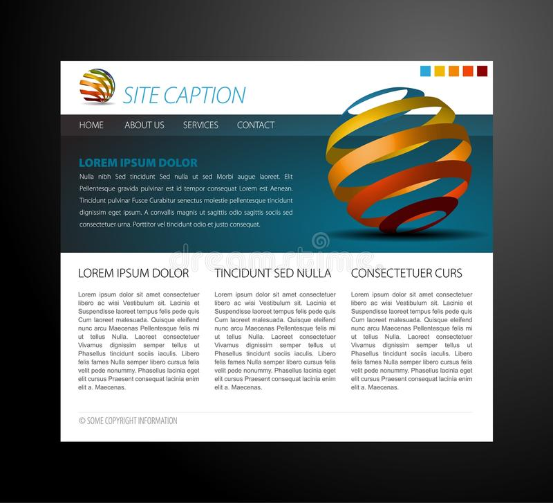 Molde moderno do Web site ilustração do vetor