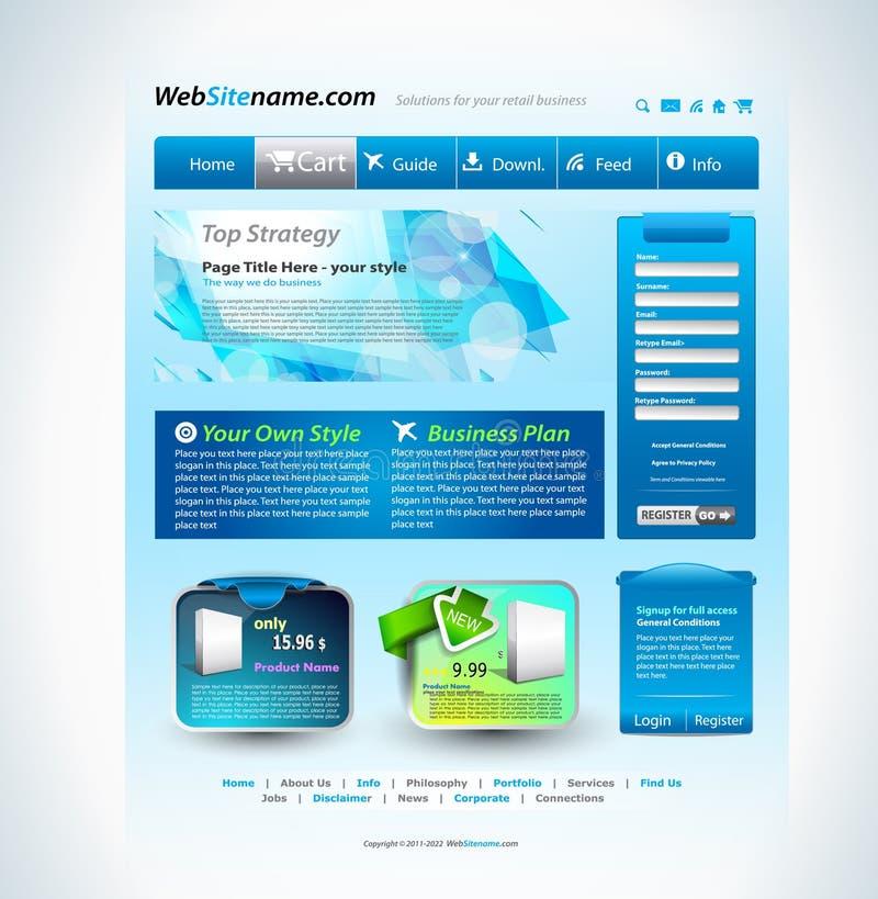 Molde moderno do Web site ilustração stock