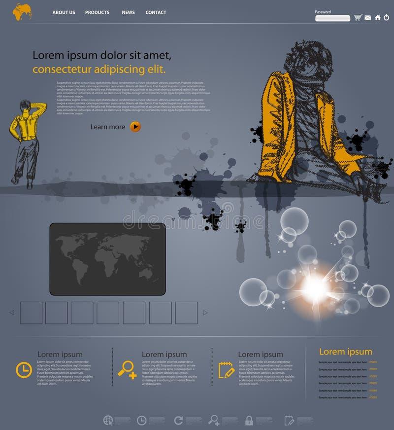 Molde moderno do Web site ilustração royalty free