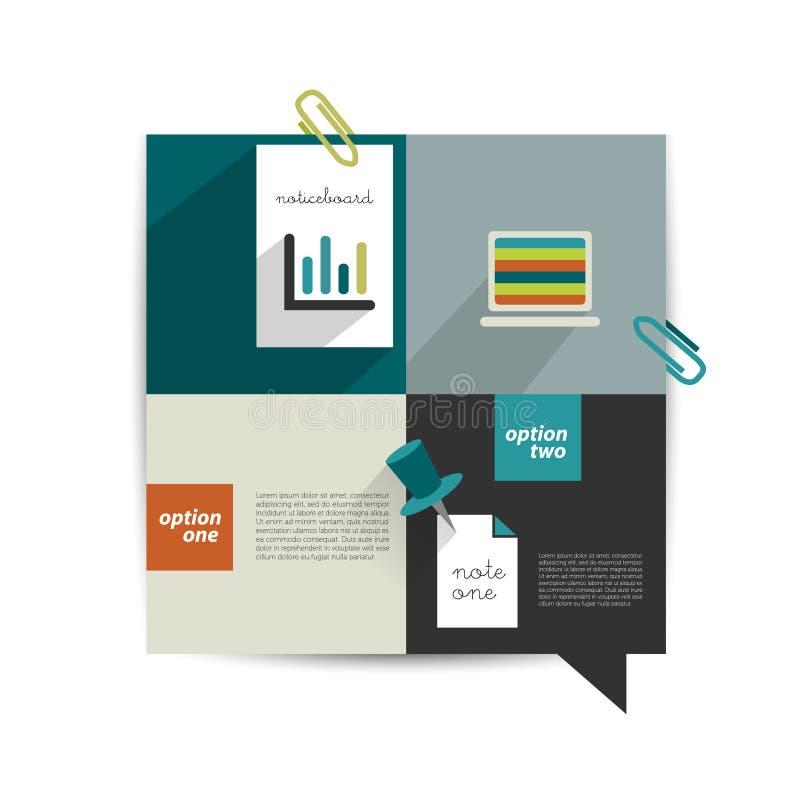 Molde moderno do Web site Bandeira minimalistic colorida da opção ilustração do vetor