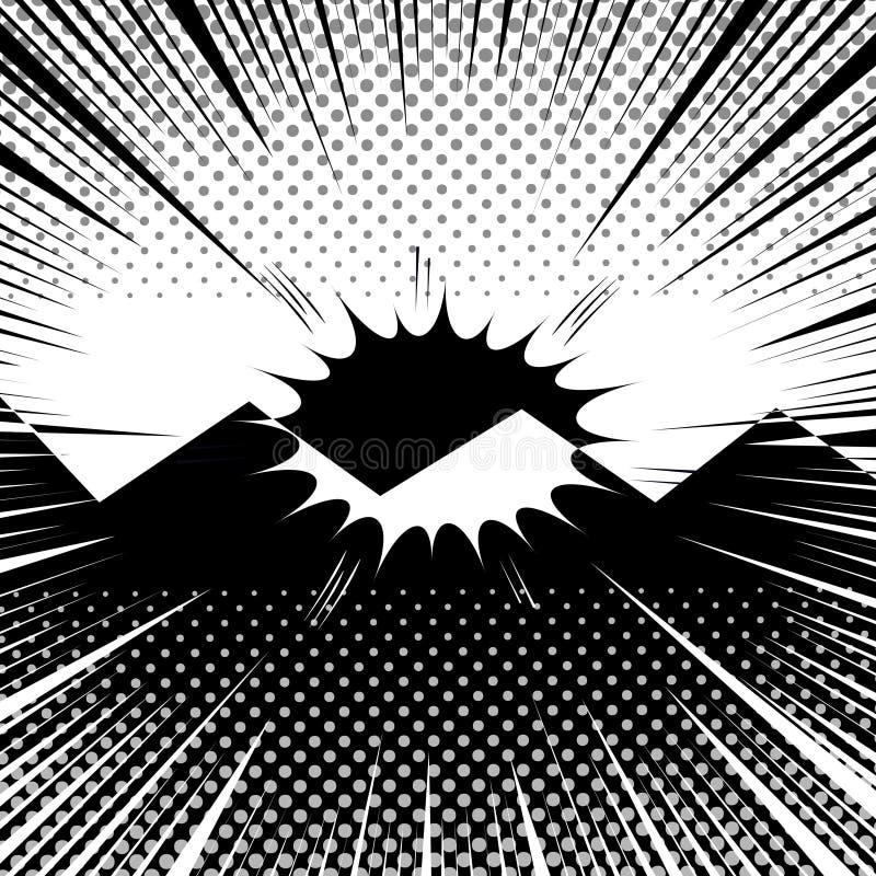 Molde monocromático do duelo cômico ilustração do vetor