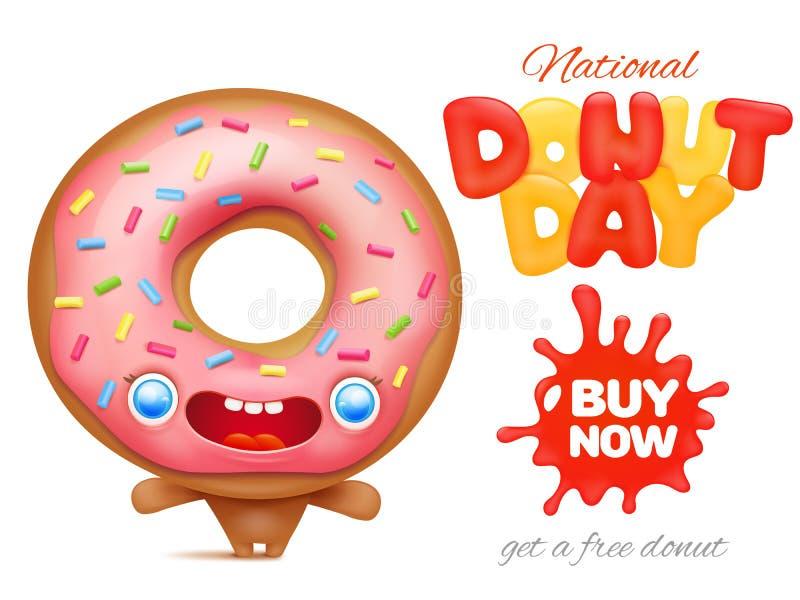 Molde nacional do cartaz do anúncio do feriado do dia da filhós ilustração do vetor