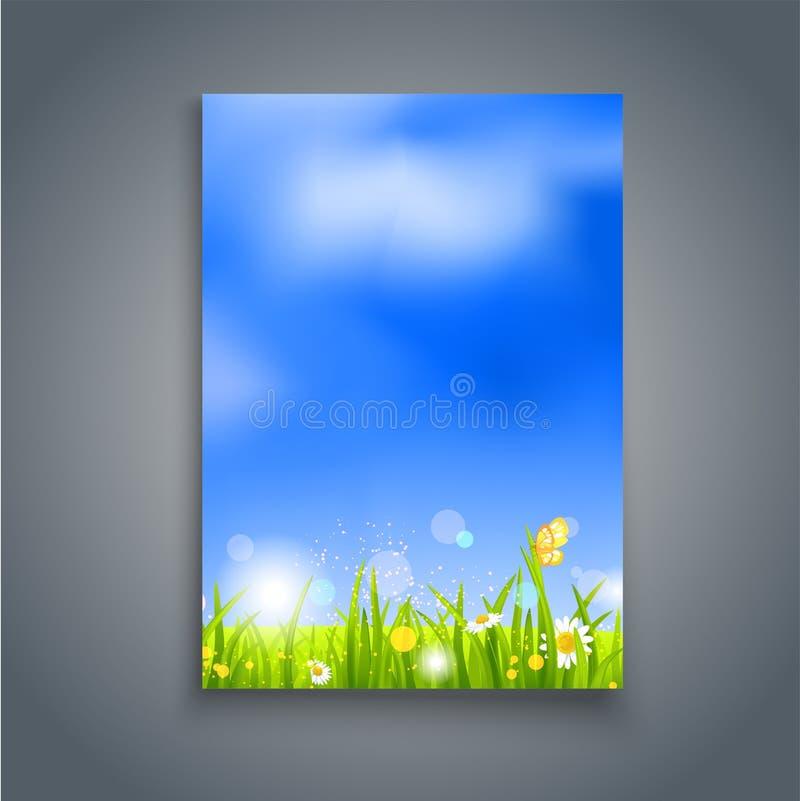 Molde natural do verão ilustração do vetor