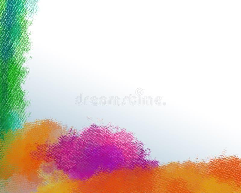 Molde no curso Textured da aquarela Respingo brilhante pintado à mão da cor Cursos Textured da aquarela isolados no branco ilustração do vetor
