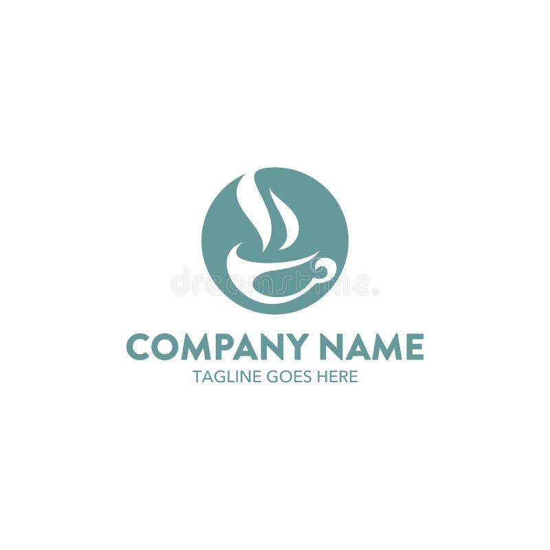 Molde original do logotipo do café do café Vetor editable ilustração stock