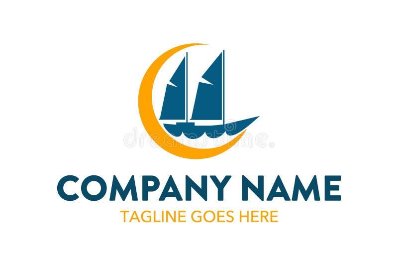 Molde original do logotipo do curso e do hotel Vetor editable ilustração royalty free