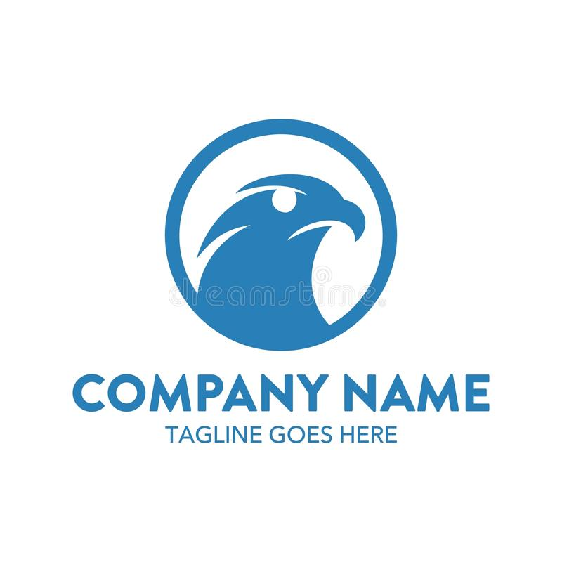 Molde original do logotipo da águia Vetor editable ilustração stock