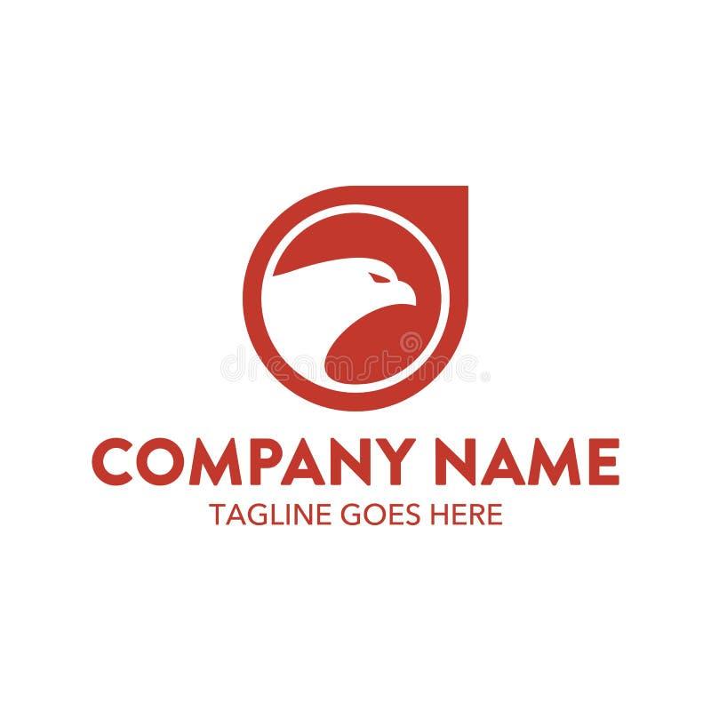 Molde original do logotipo da águia Vetor editable ilustração royalty free